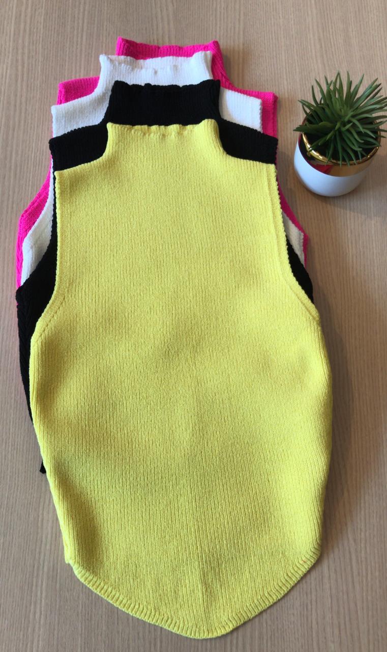Blusa Pietra Cropped Canelado Detalhe Bico