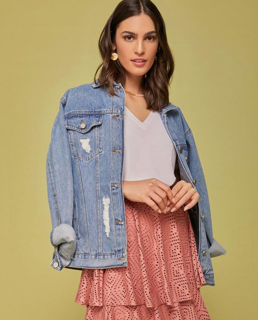 Jaqueta Esmeral  jeans  Boyfriend