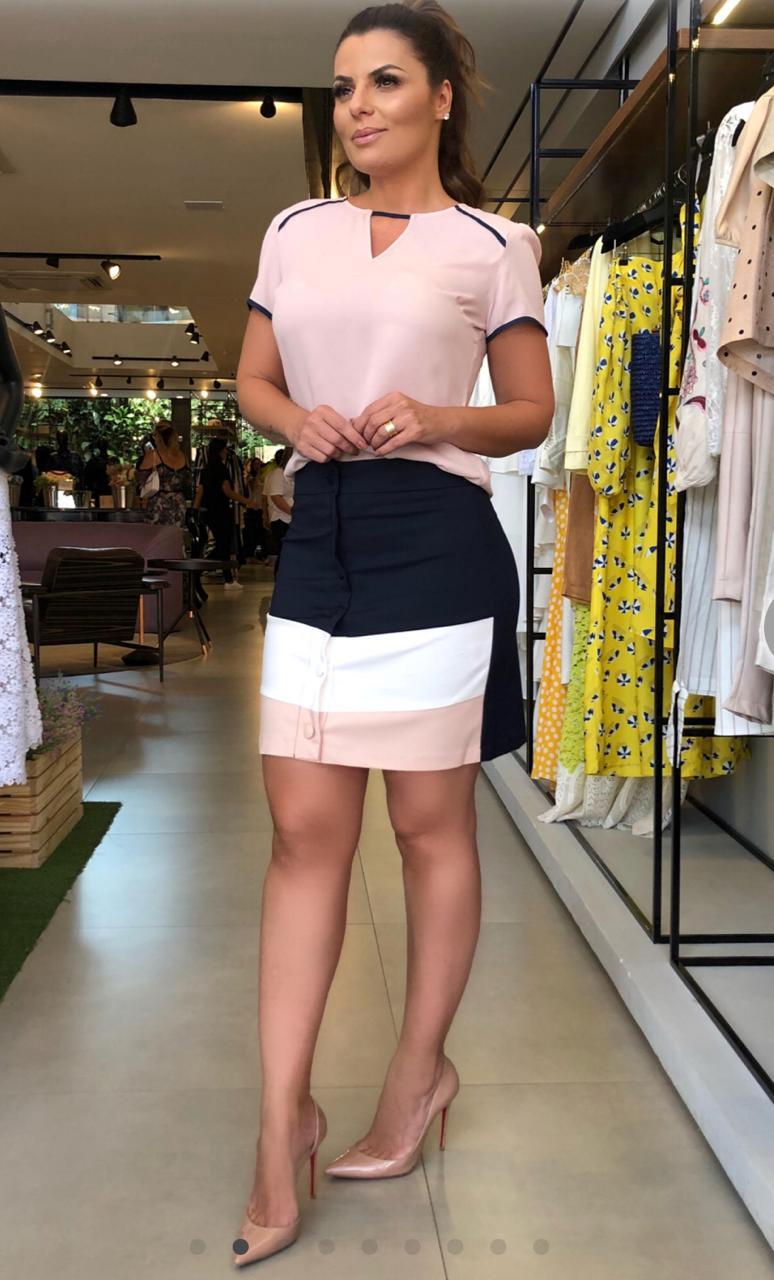 Saia Angelica Alfaiataria Colors 4%Elastano
