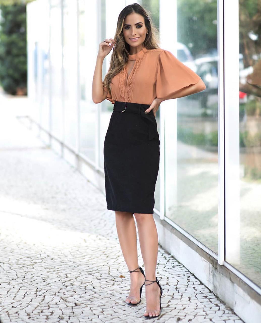 b739992e7a Saia Fernanda Midi Veludo + Cinto - Sibelle Alves de Assis
