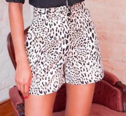 Shorts Andria Sarja C/Cinto 3% Elastano