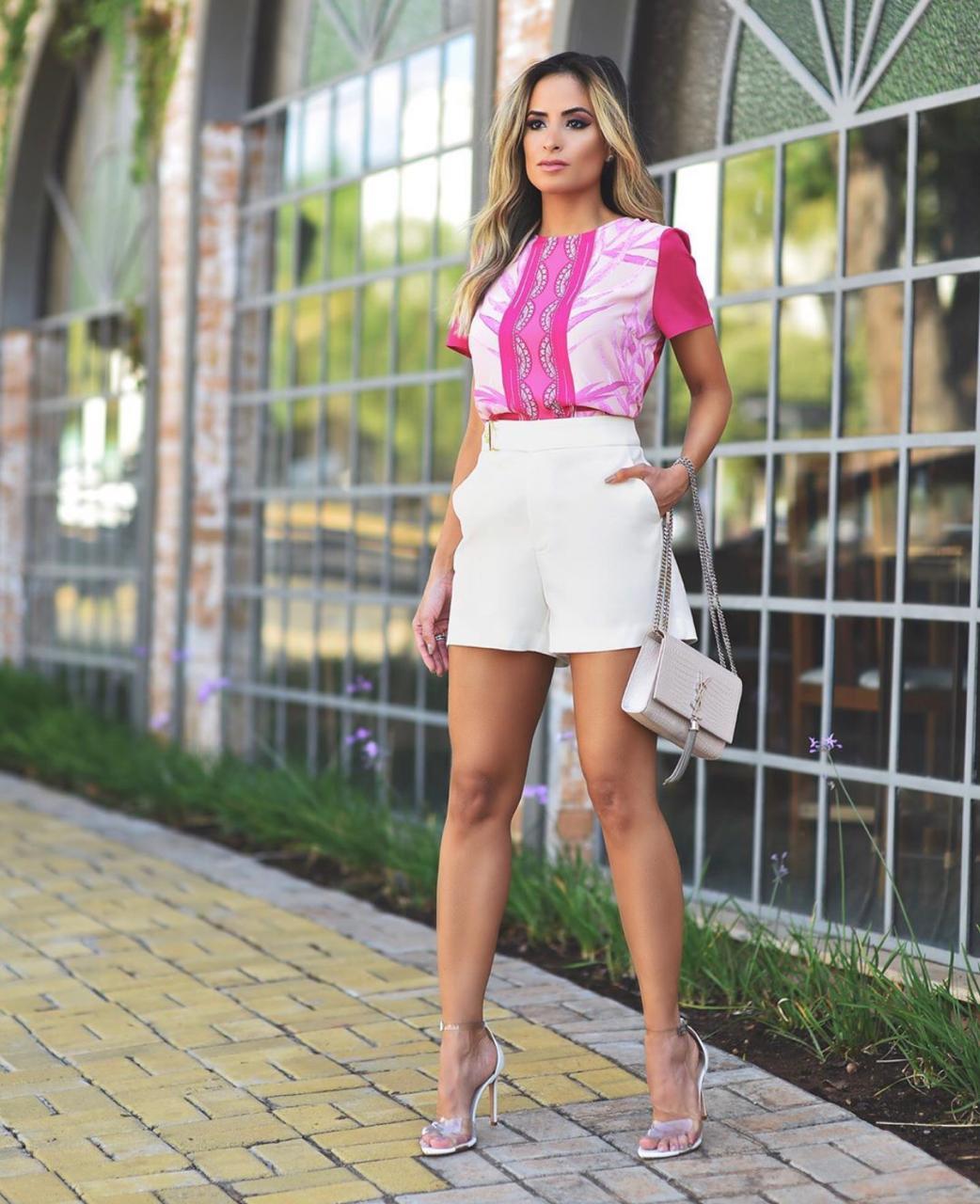 Shorts Anita Alfaiataria Passante Metal 4% Elastano