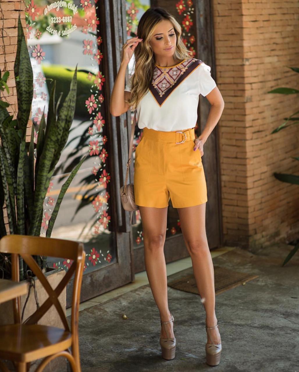 Shorts Anita Sarja com 3% Elastano