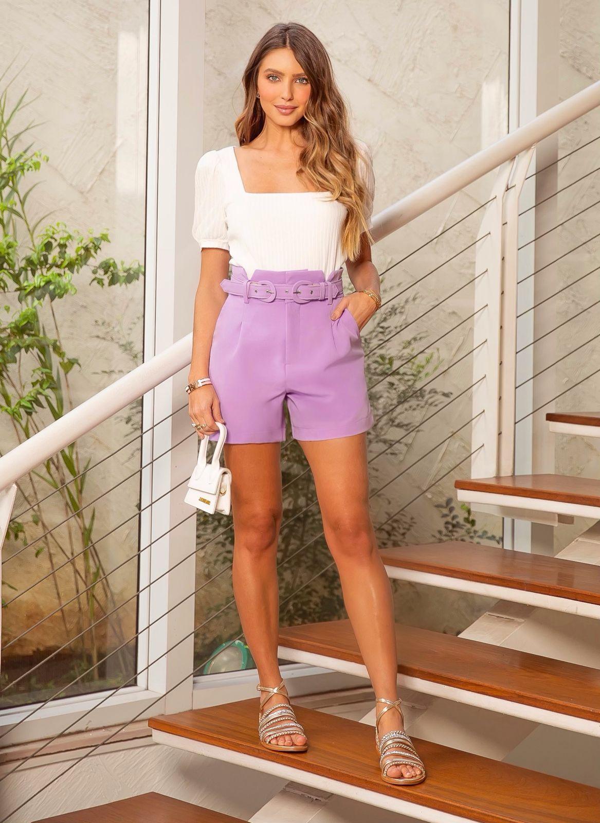 Shorts Beth Alfaiataria + Cinto