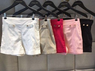 SHORTS BIANCA CORES OFF E PINK