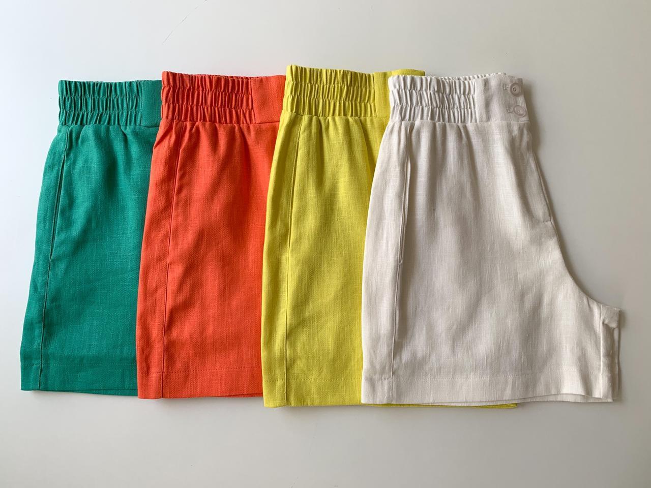 Shorts Hit Linho  Misto