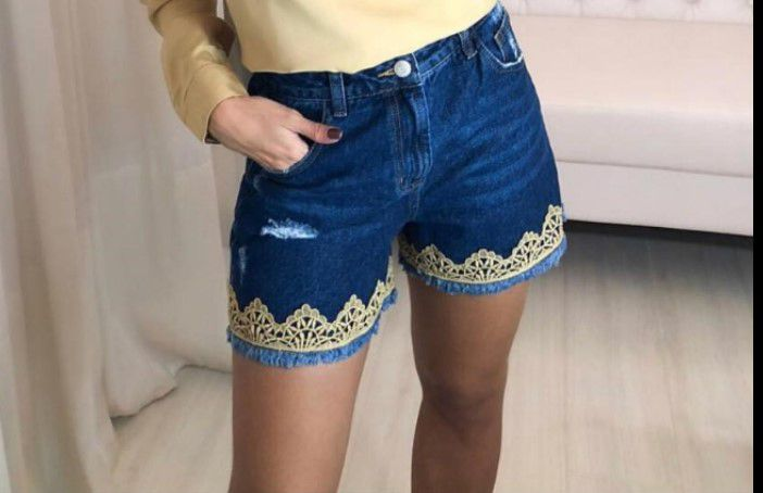 Shorts Fernanda Aplique Renda