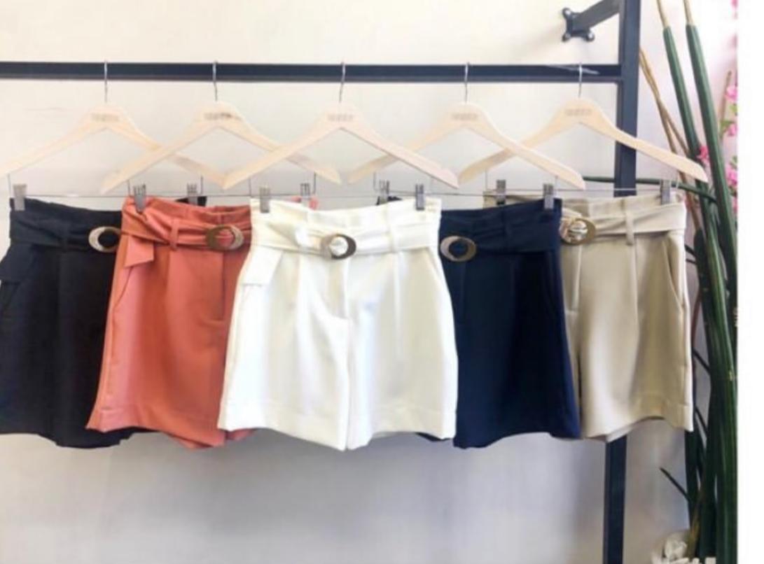 Shorts Isabele Crepe Cinto 10% Elastano