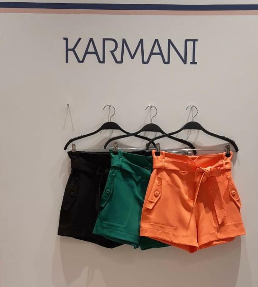 Shorts Karmani Alfaiataria Pespontado 4% Elastano