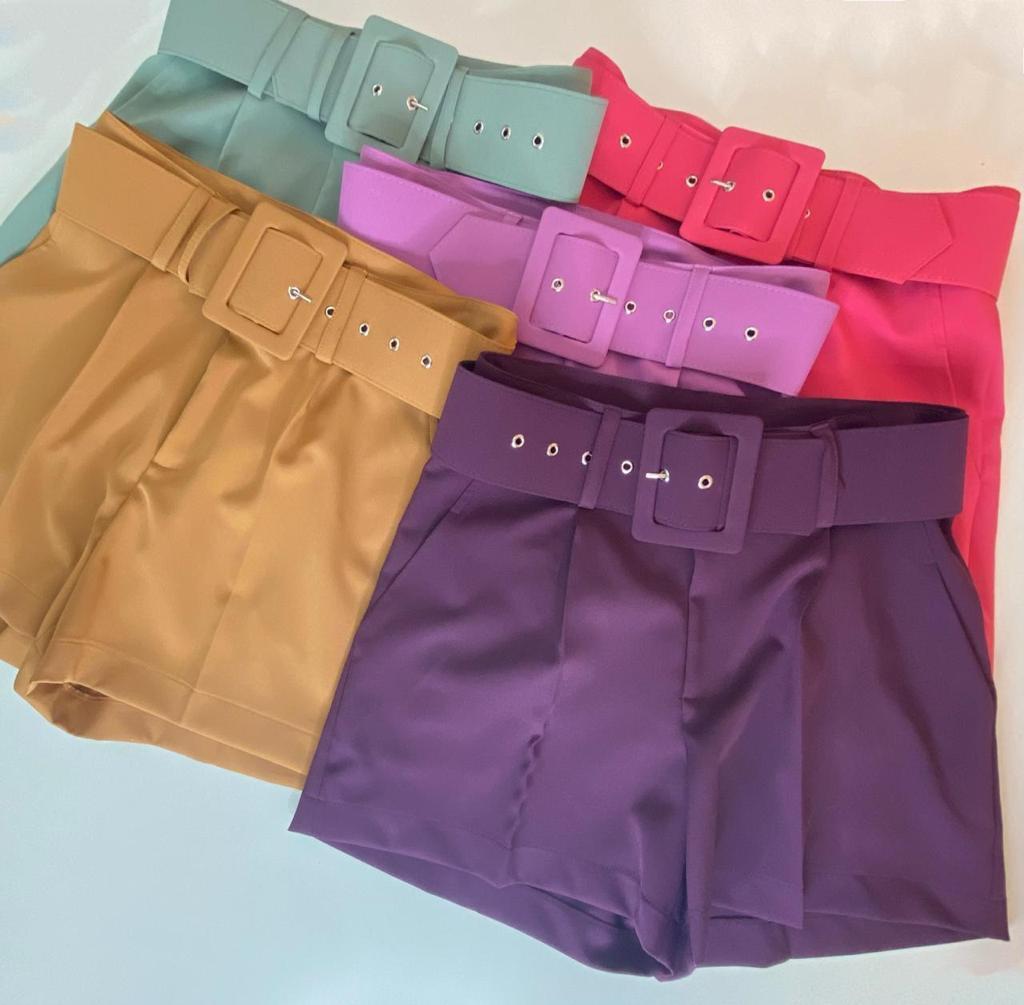 Shorts Morina com Cinto 10%Elastano