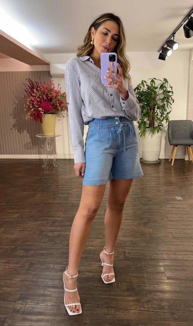 Shorts Morina Moletom Jeans