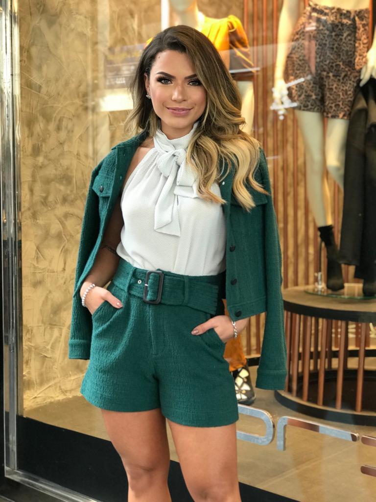 Shorts Morina  Tweed Boucle Cinto