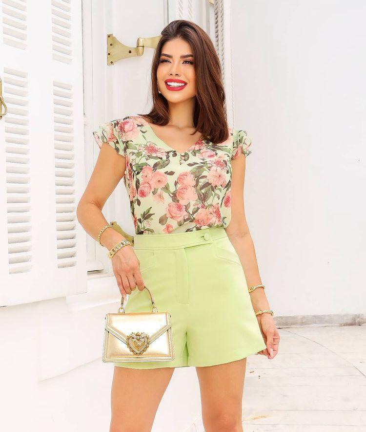 Shorts Natalia Alfaiataria Detalhe Bolsos