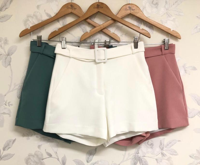Shorts Suzana Alfaiataria + Cinto 10% Elastano