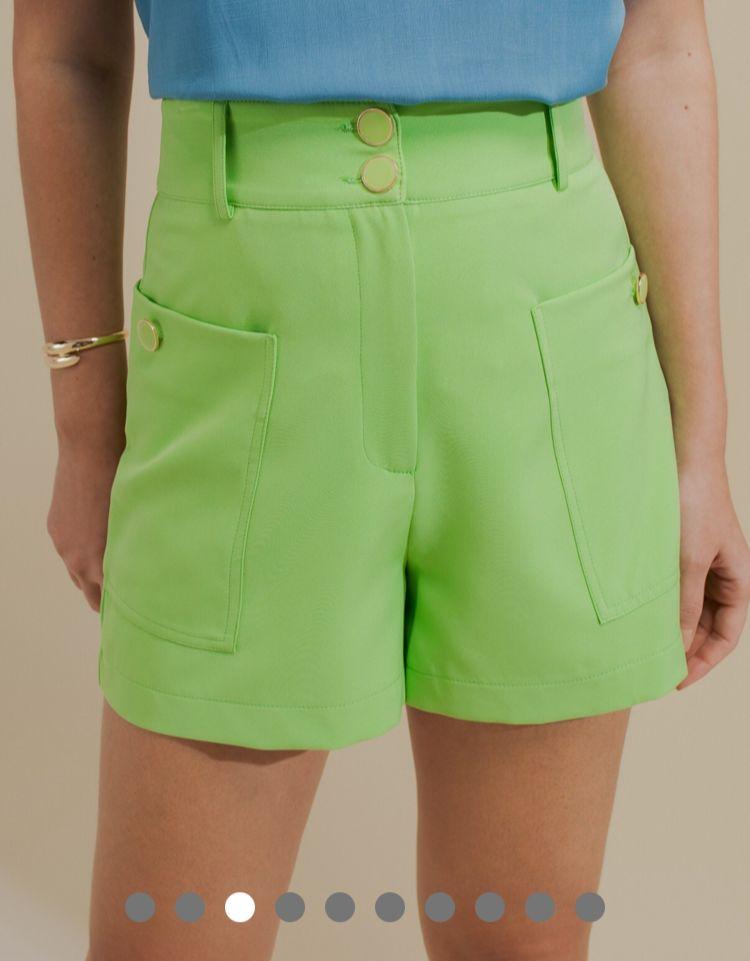 Shorts Unique Alfaiataria C/ Elastano Detalhe Bolsos