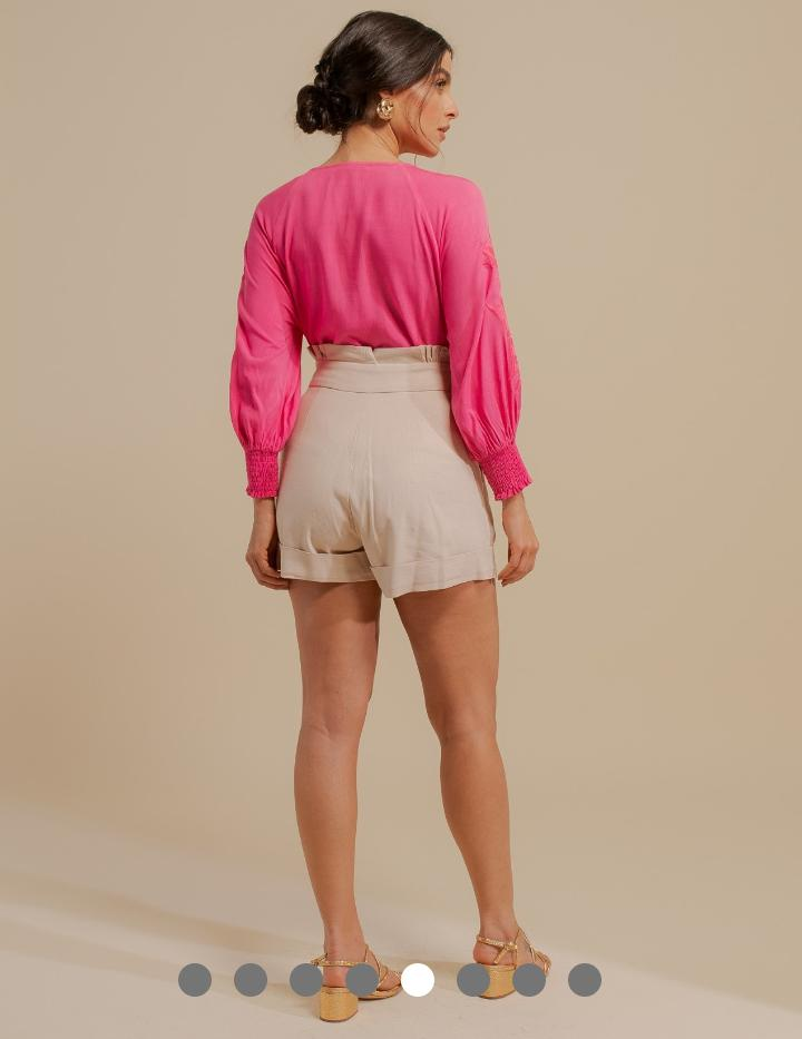 Shorts Unique Linho C/ Elastano Clochard