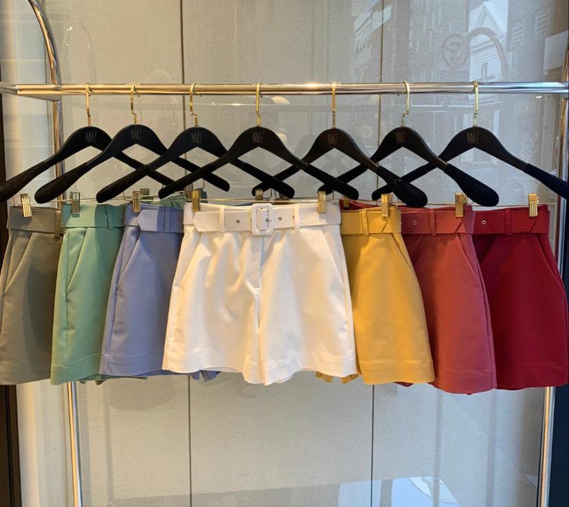 Shorts Verona Alfaiataria C/Cinto 4% Elastano