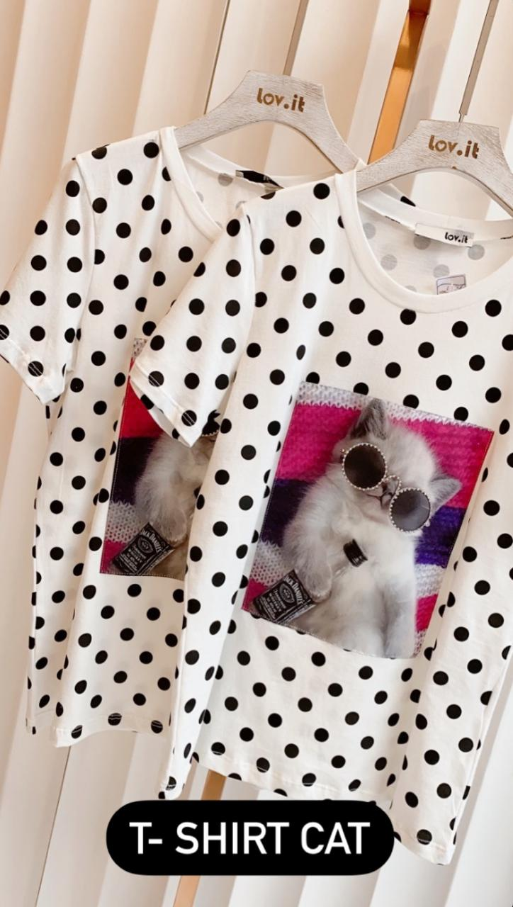 T-shirt Cat Poa