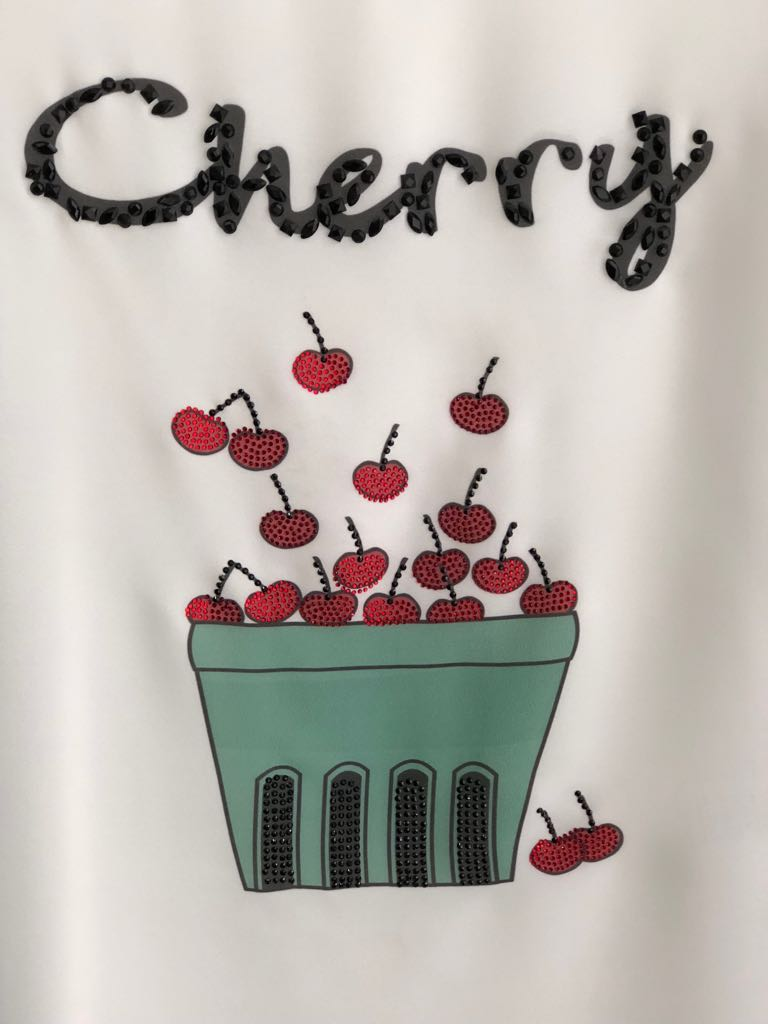 T-SHIRT CHERRY VISCOLYCRA