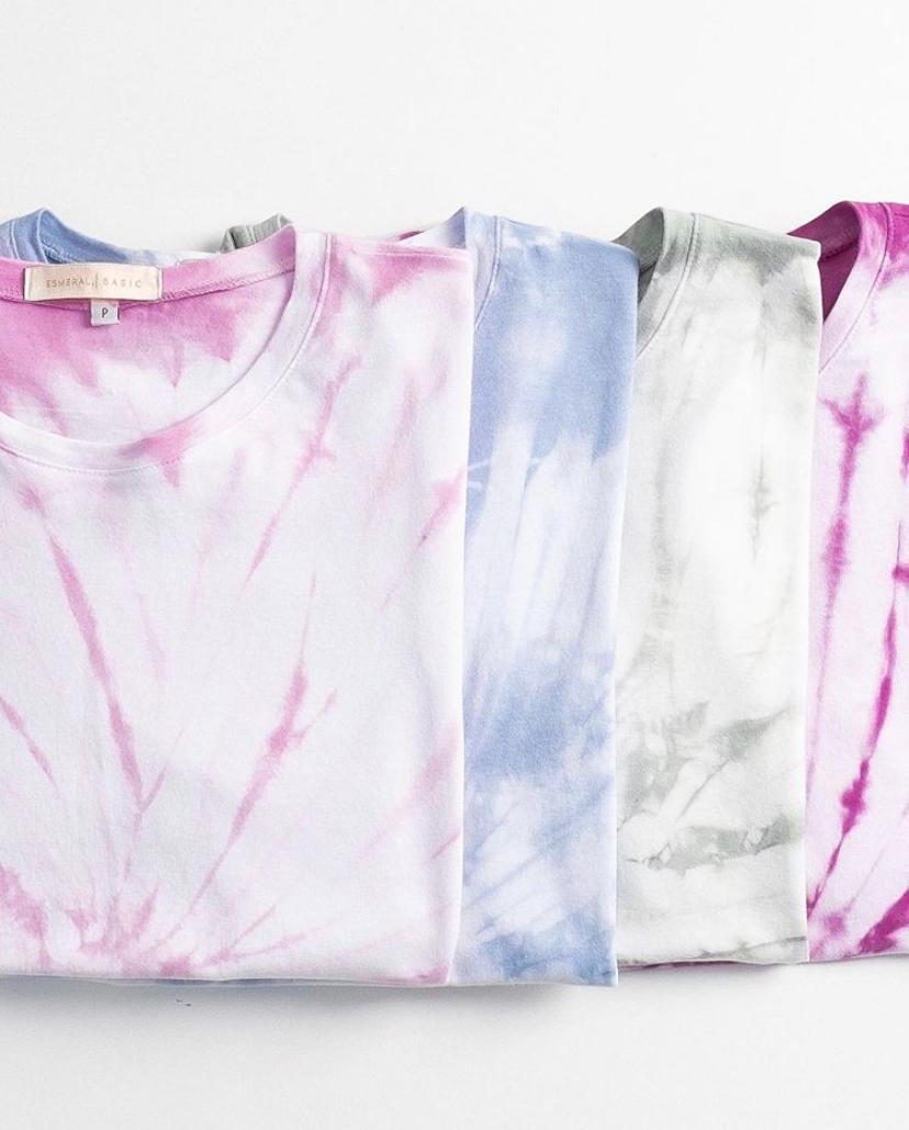 T-shirt Esmeral Basica Tie Dye
