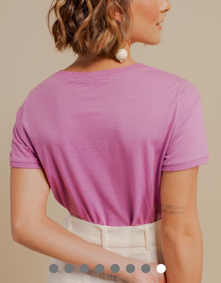 T-Shirt  Jessica Estampa Beauty 100% Algodão