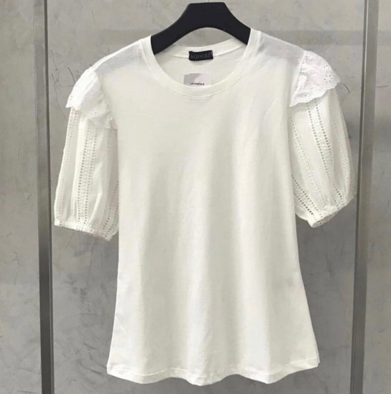 T-shirt La Chocole  Detalhe Laise Manga Bufante