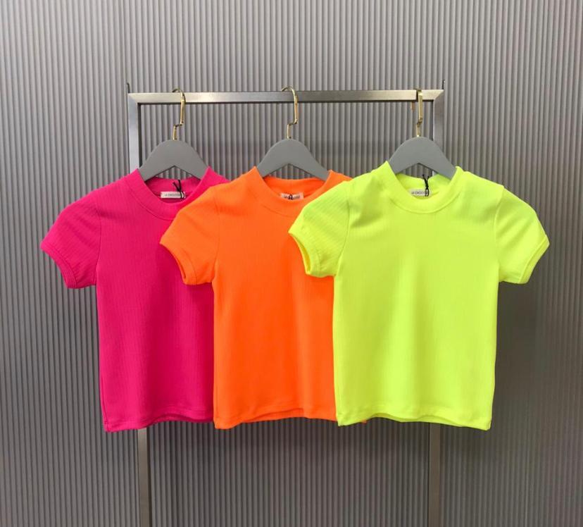 T-Shirt  La Chocole Rib Canelada  Neon