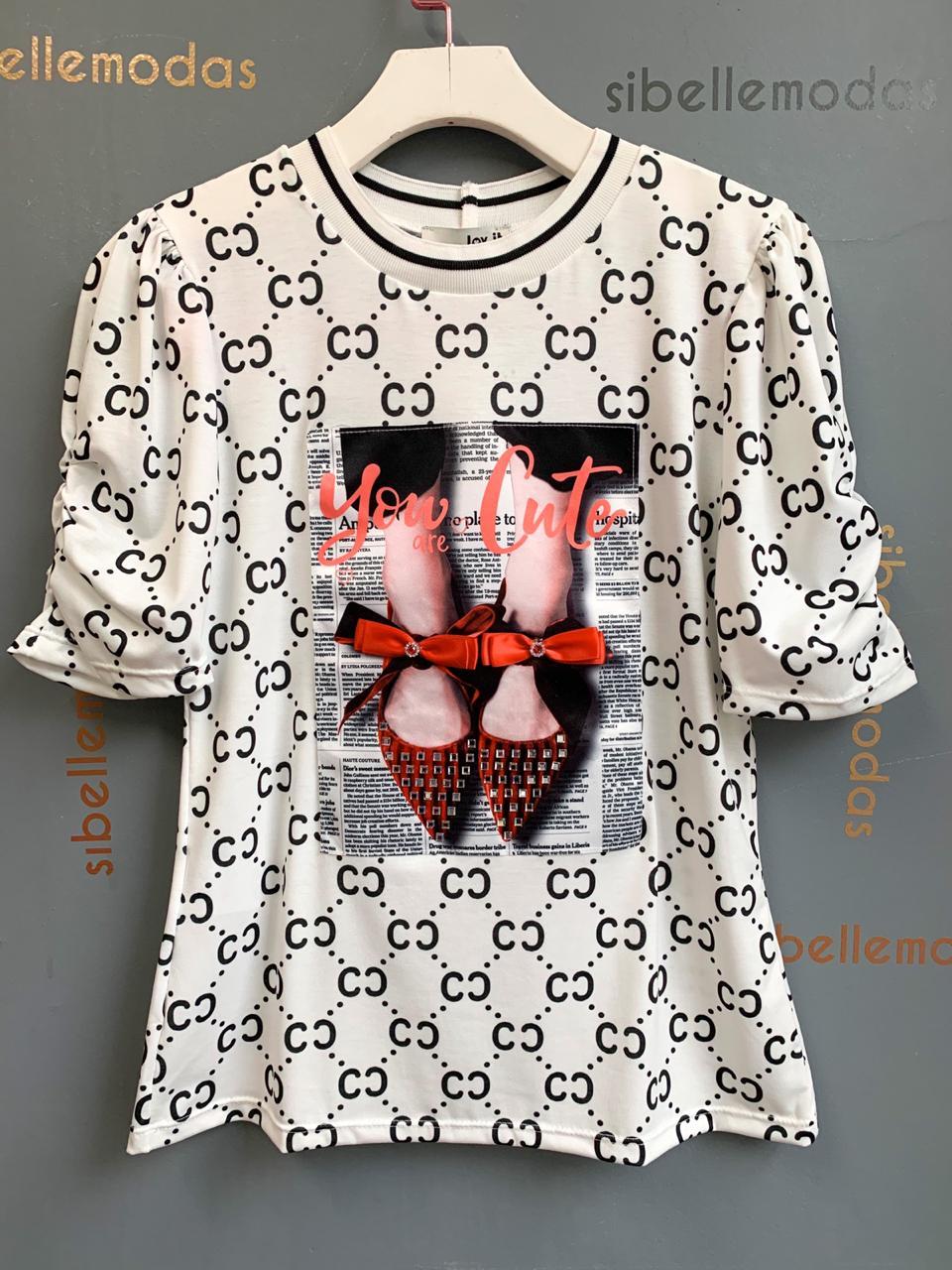 T-Shirt Livia Estampa Sapatinho
