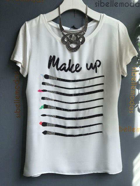 T-SHIRT MAKE MALHA CREPE