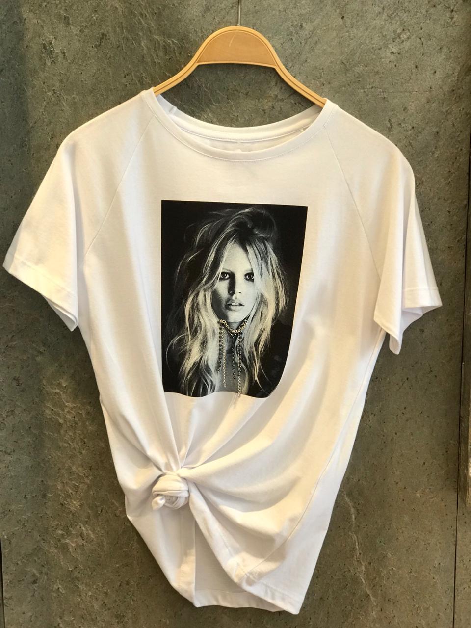 T-shirt  Pinko Menina Detalhe Colar Bordado