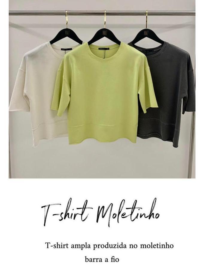T-Shirt Moletinho 100% Algodão
