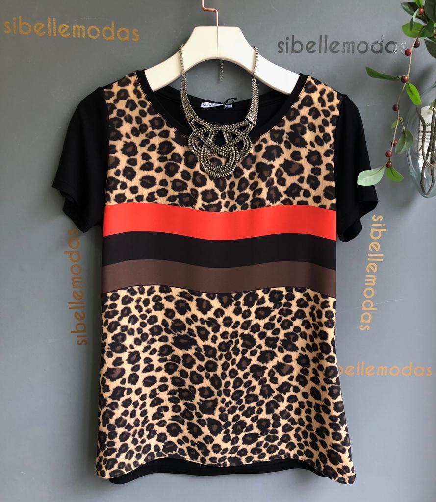 T-Shirt Monize Animal Print Listras