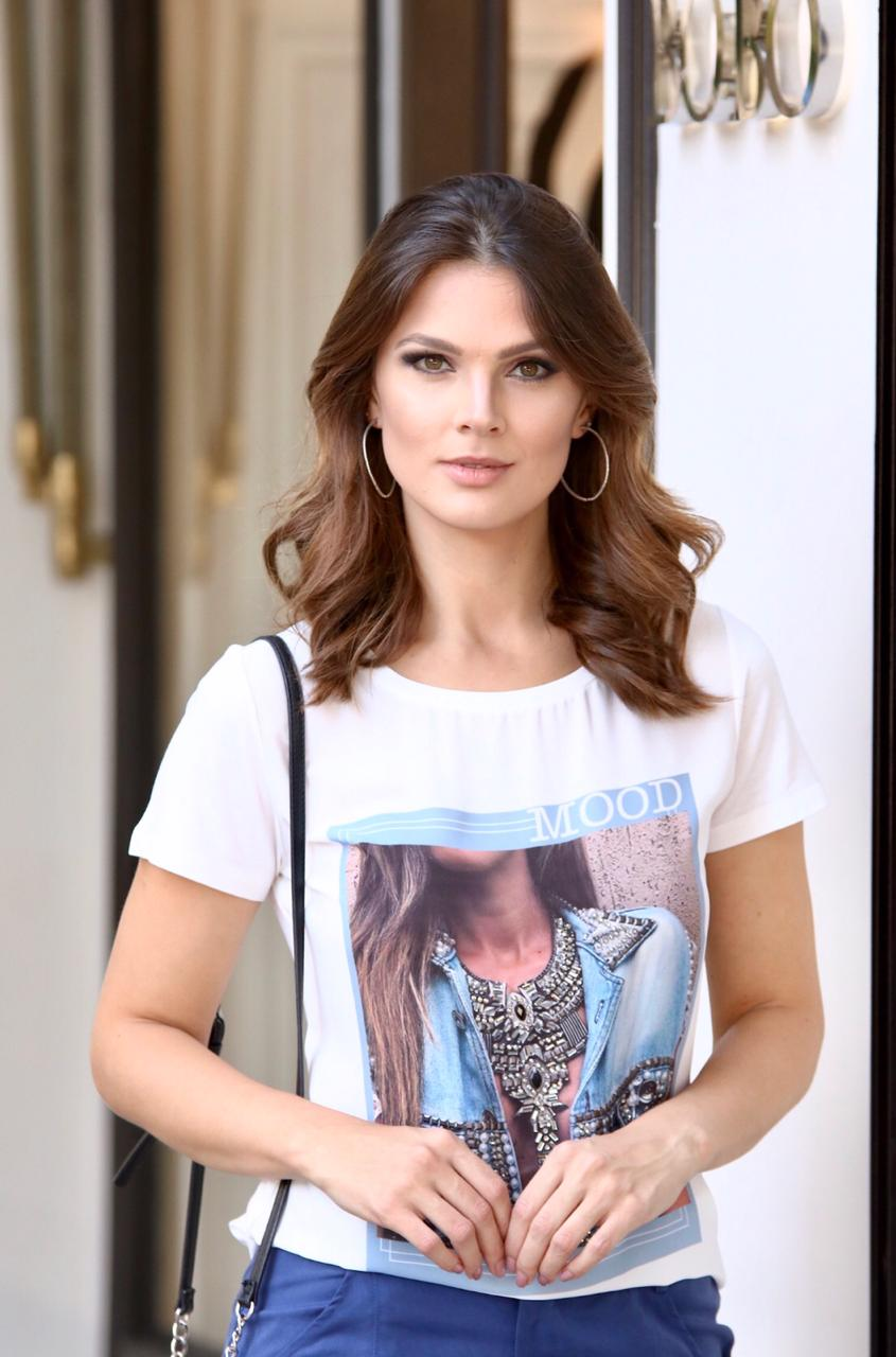T-shirt Mood Viscolycra Bordada