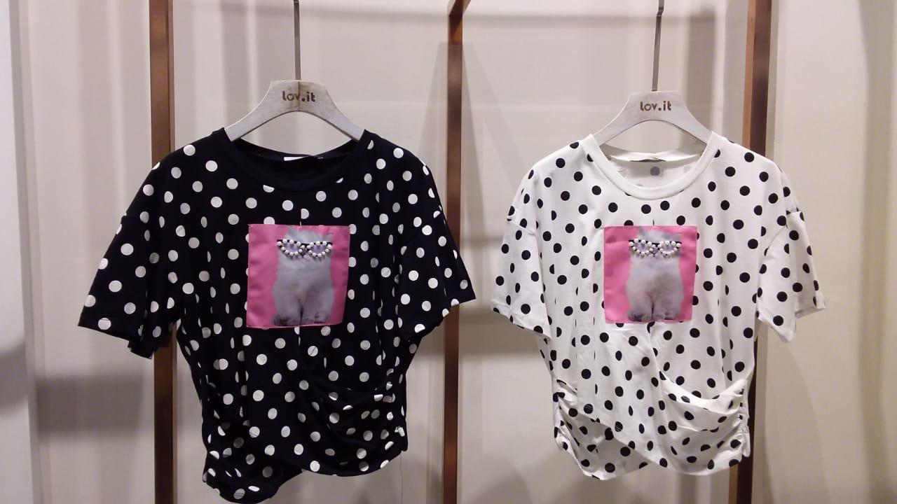 T-Shirt Morgana Cropped Est Poa E Aplique