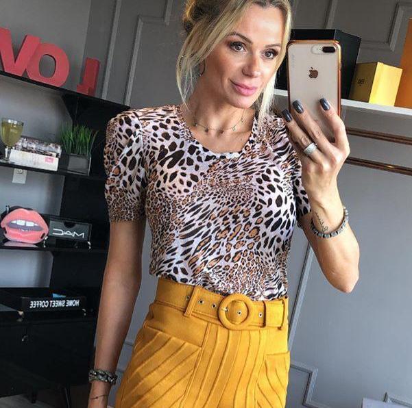 T-shirt Morina Malha Tigresse