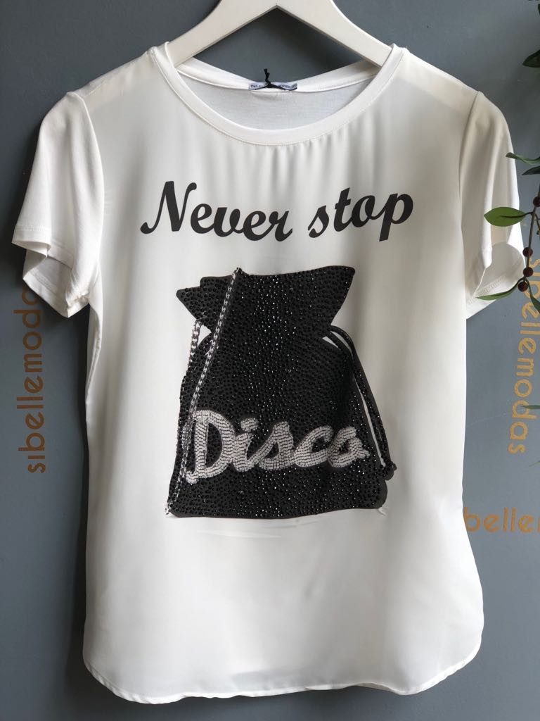 T-SHIRT NEVER DISCO VISCOLYCRA