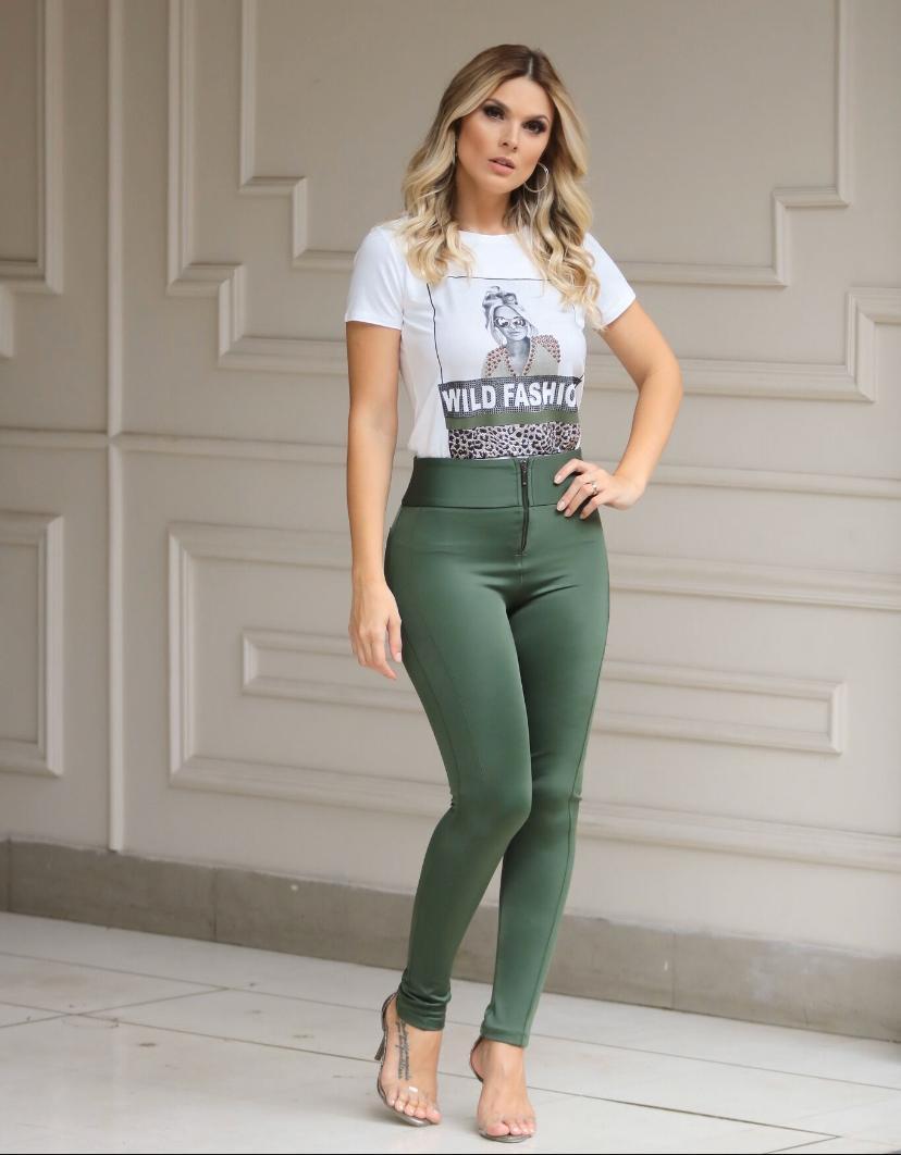T-Shirt Nux Viscolycra Estampa Wild Fashion