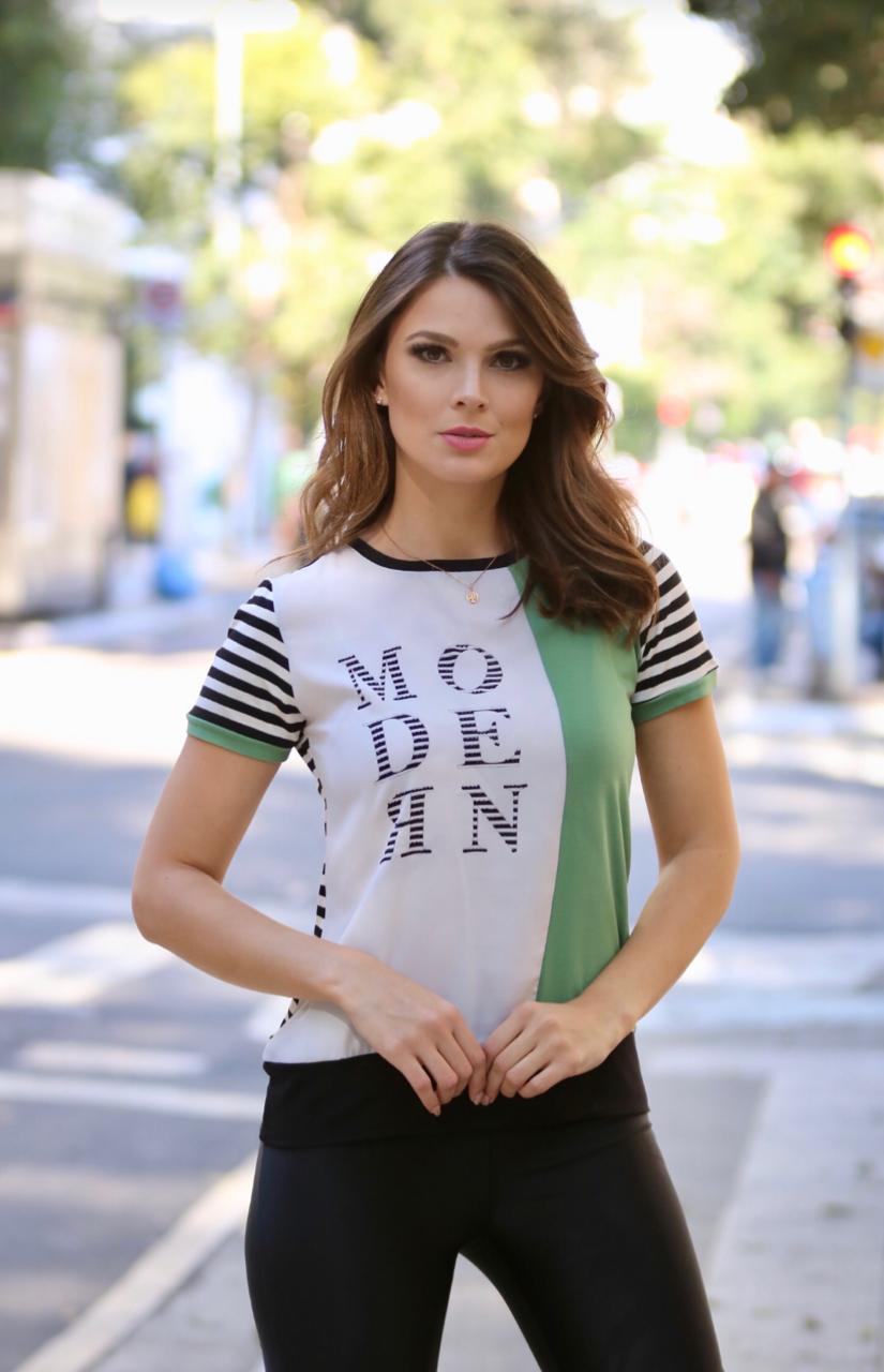 T-Shirt Nuxx viscolaycra  listras