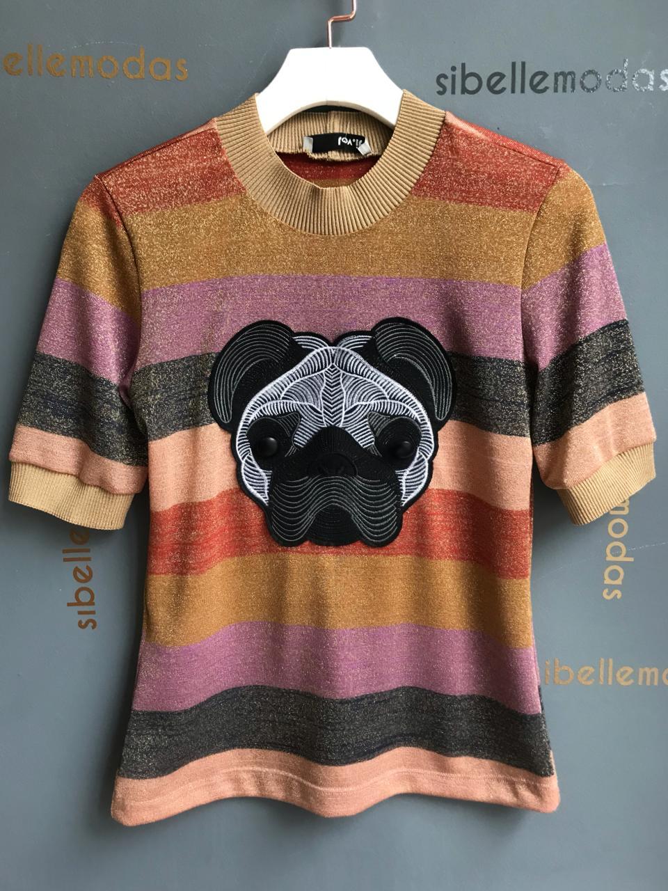 T-shirt Pug Lurex
