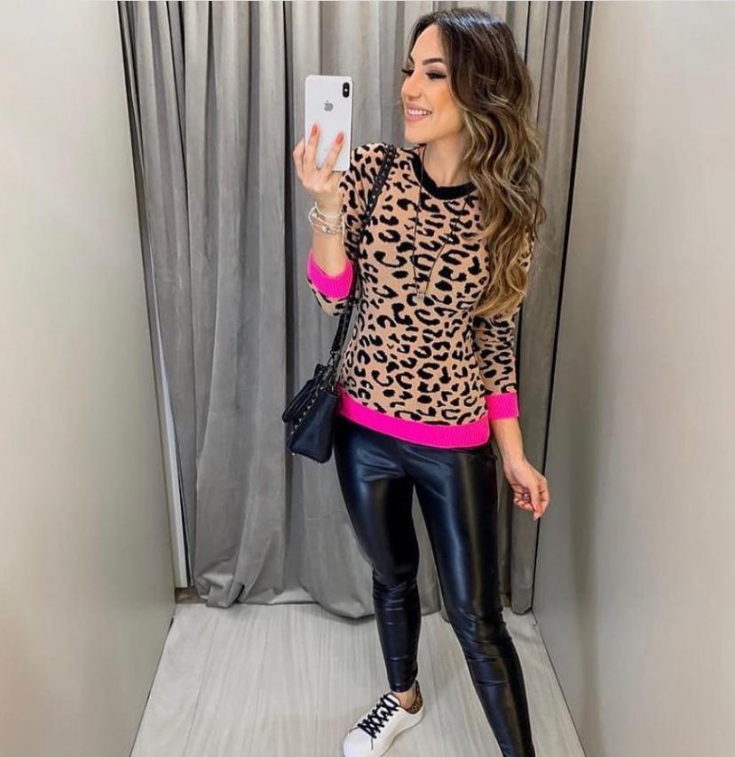 Tricot Lorena 4% Elastano Animal Print