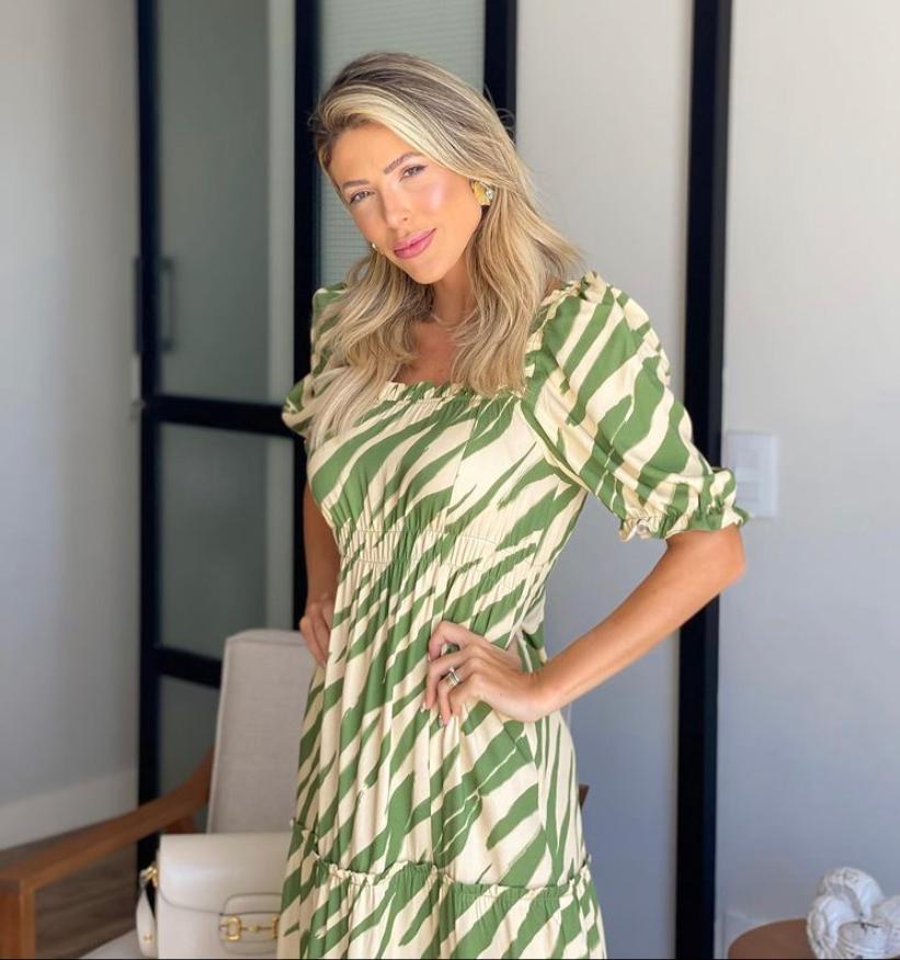 Vestido Alana Midi Zebra Viscose