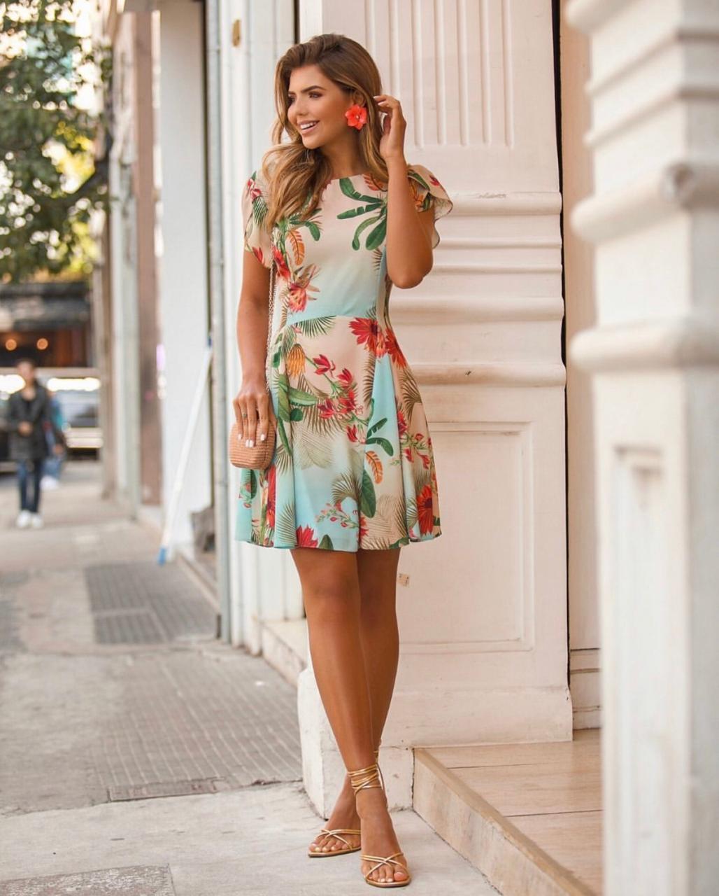 Vestido Alessandra Crepe Tropical
