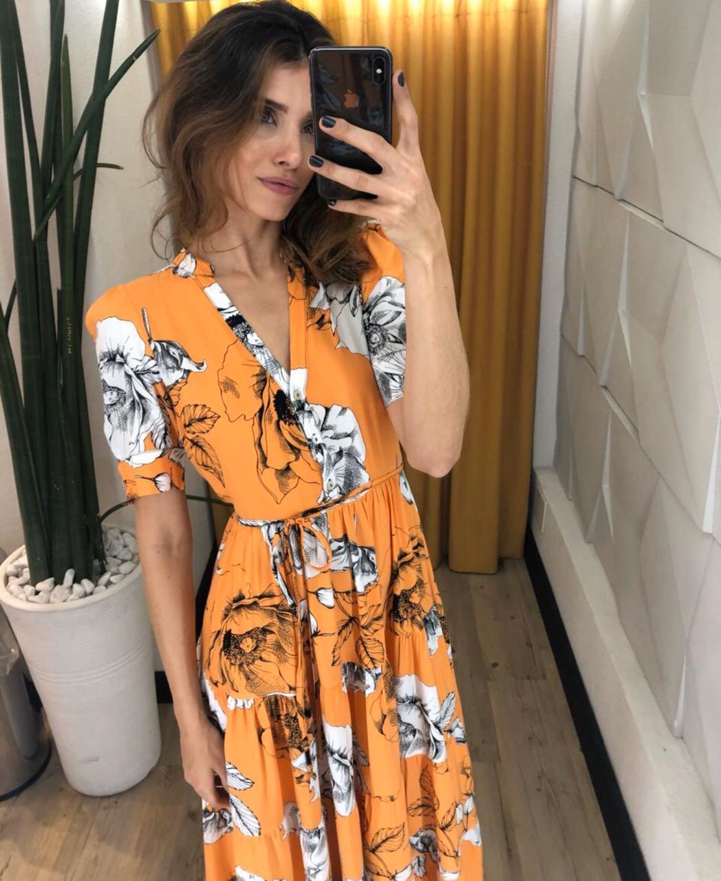 Vestido Alexandra Viscose  Estampada