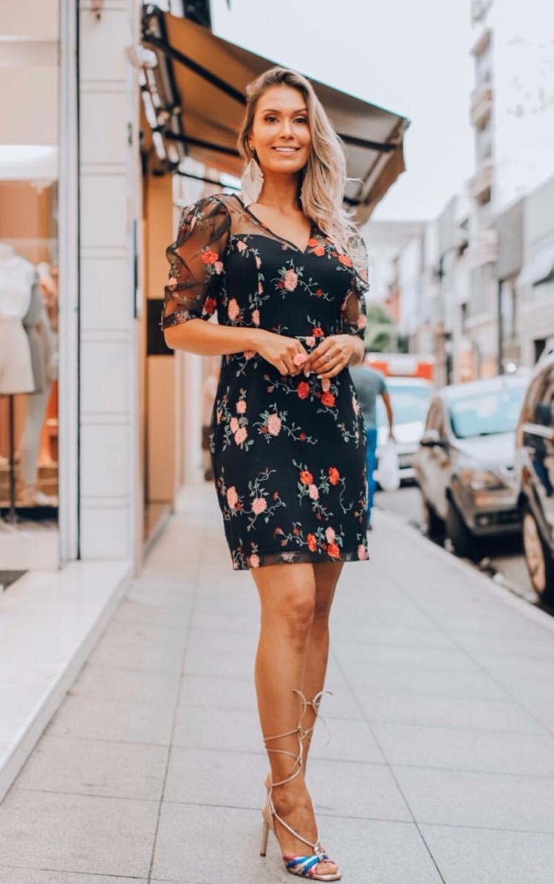 Vestido Alice Tule Bordado