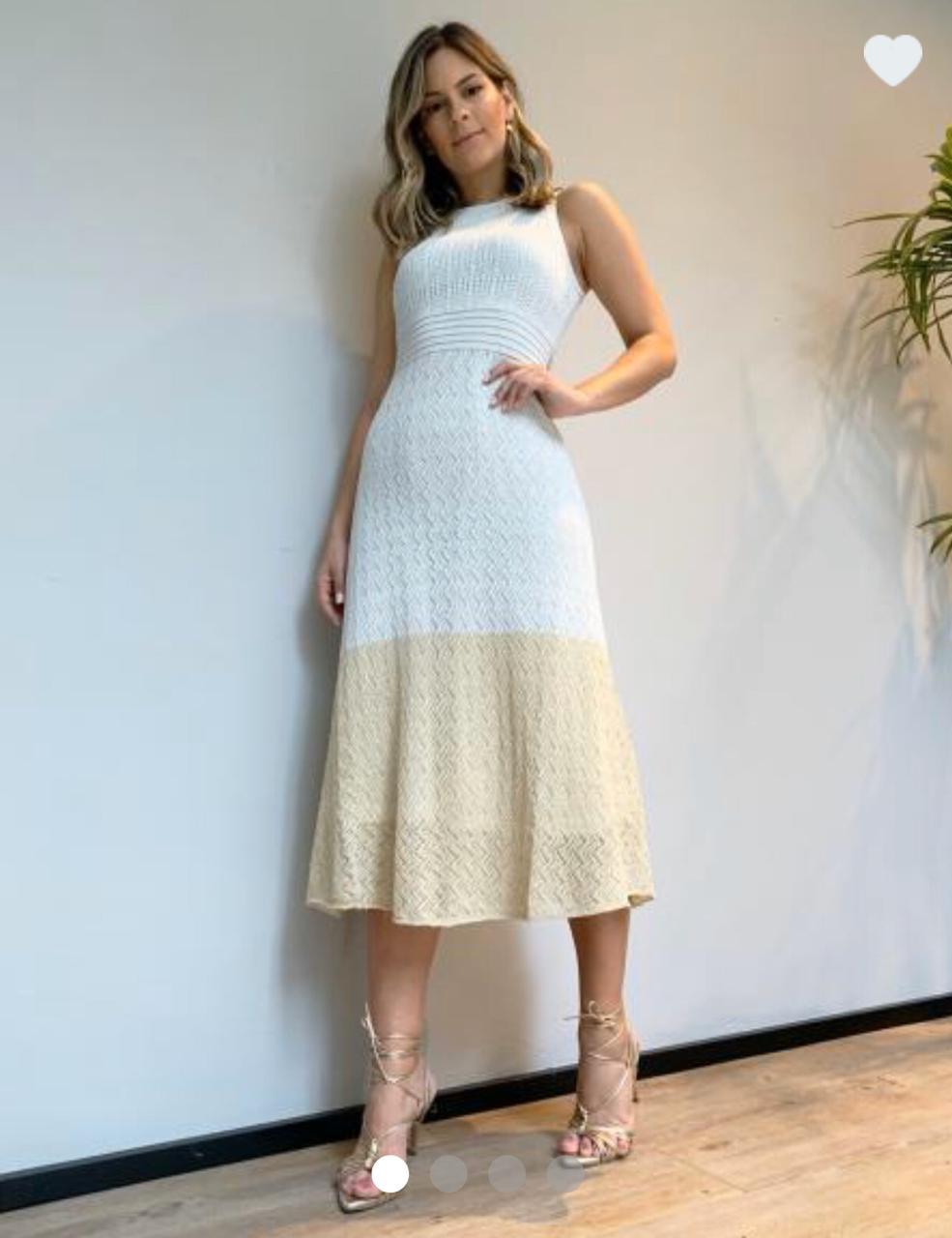 Vestido Aline Midi Tricot Lurex