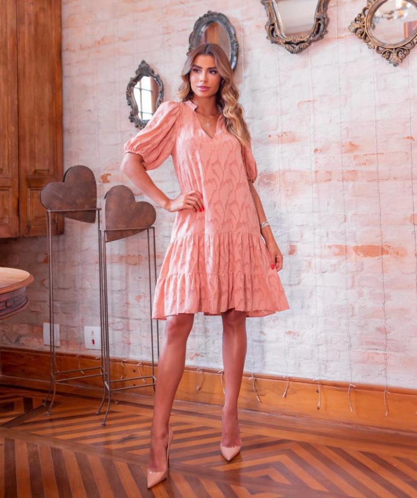 Vestido Andreia Crepe Devore (Forro)