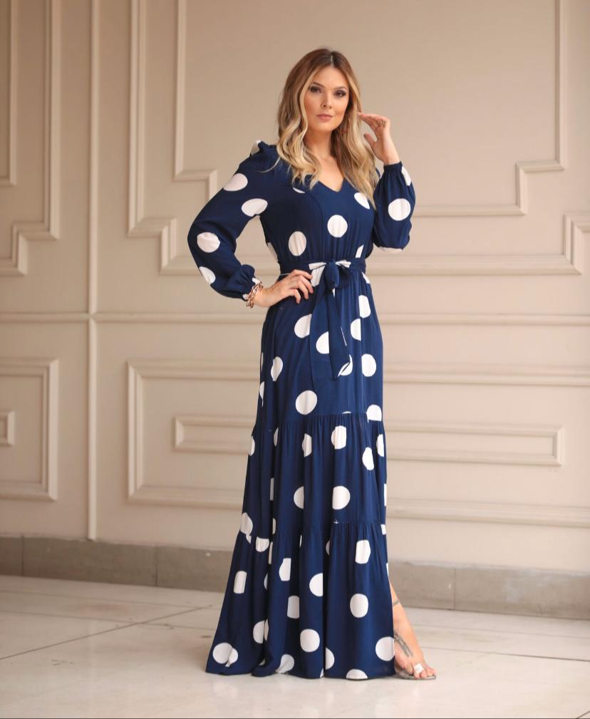 Vestido Anne Longo Viscose Com Faixa
