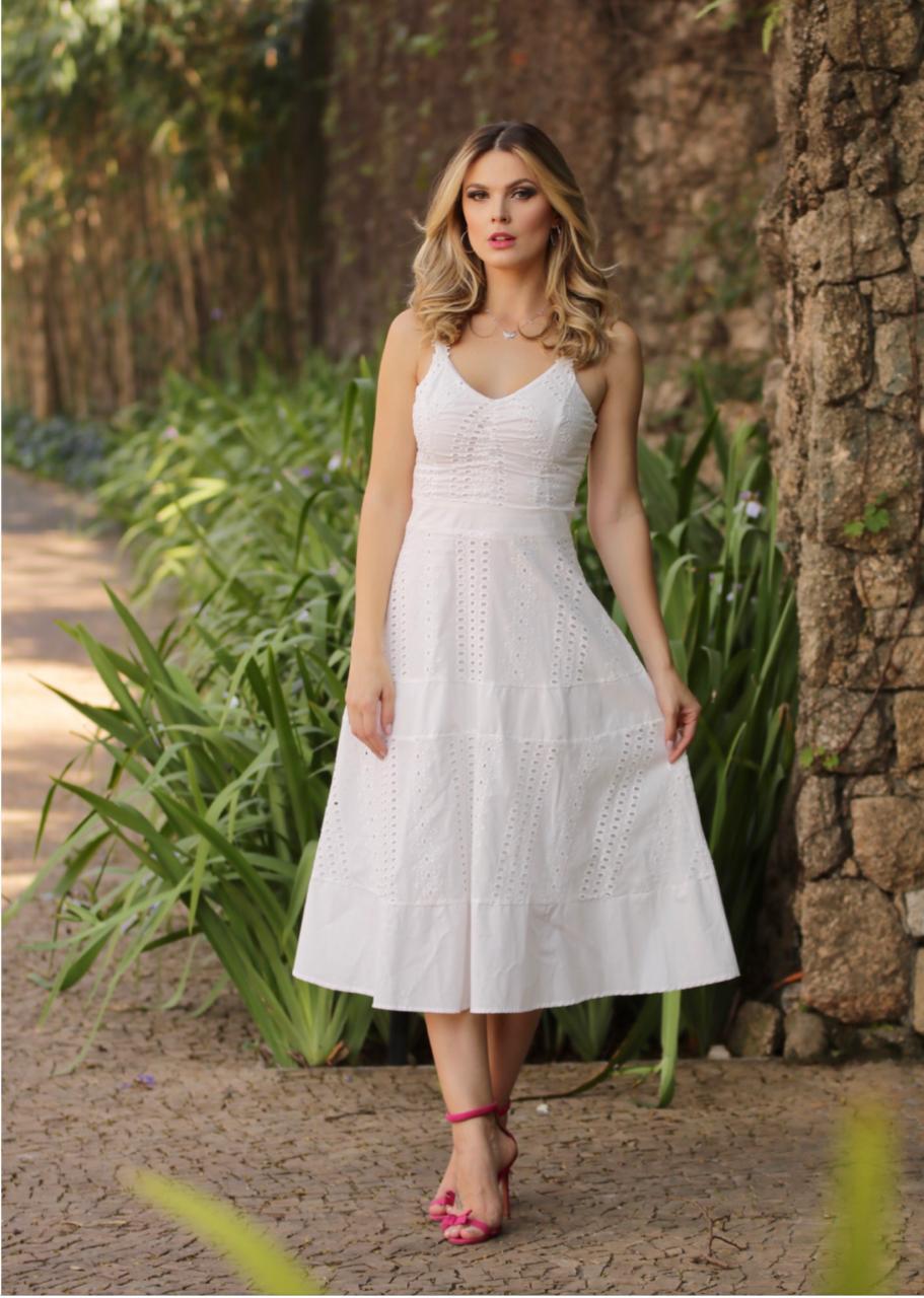 Vestido Luana Laise Midi Alça