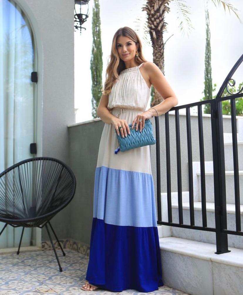 Vestido Ariane Viscose Com Gola Americana