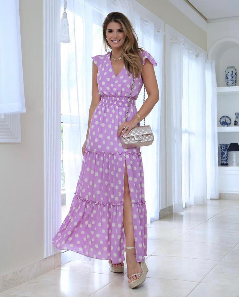 Vestido Ariane Crepe Poá (Forro)